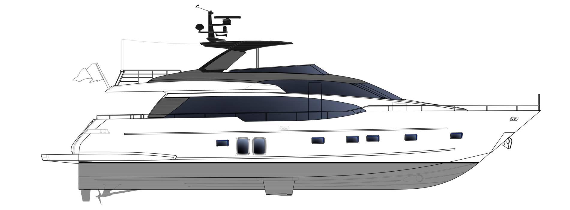 Sanlorenzo Yachts SL78-695 Perfil