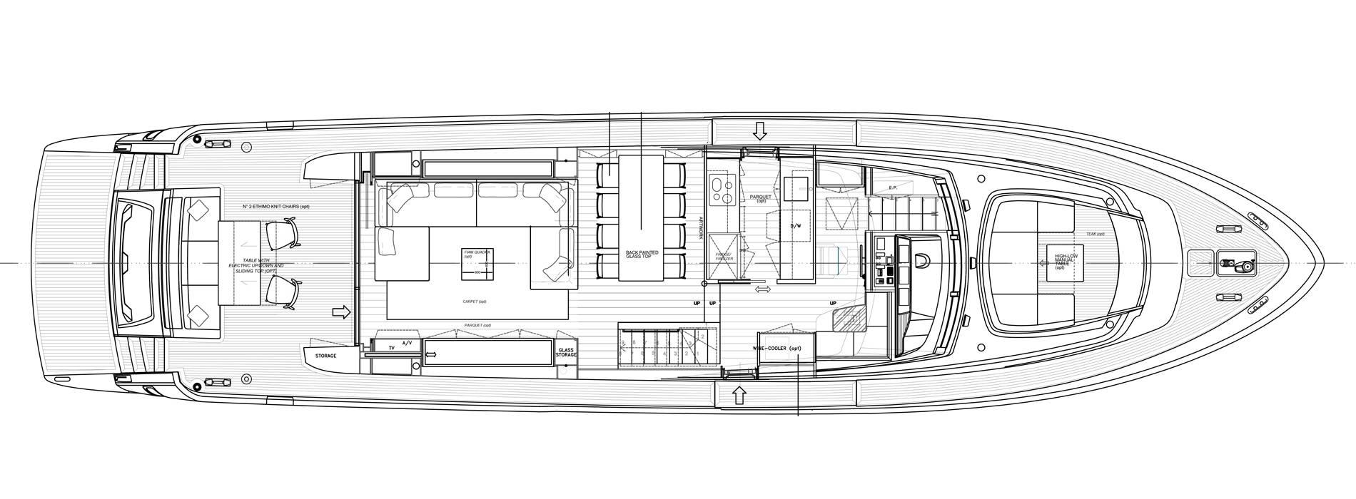 Sanlorenzo Yachts SL78-695 Cubierta principal