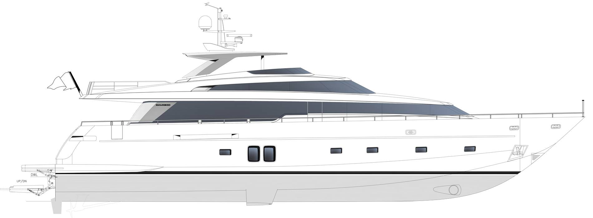 Sanlorenzo Yachts SL96-635 under offer Profilo