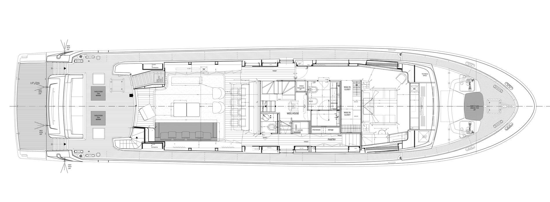 Sanlorenzo Yachts SL96-635 Главная палуба