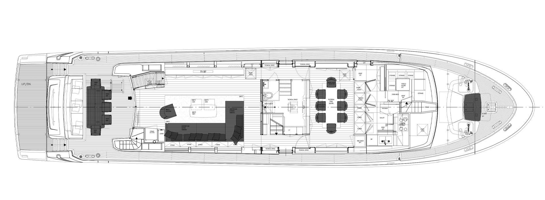 Sanlorenzo Yachts SL96-684  Cubierta principal