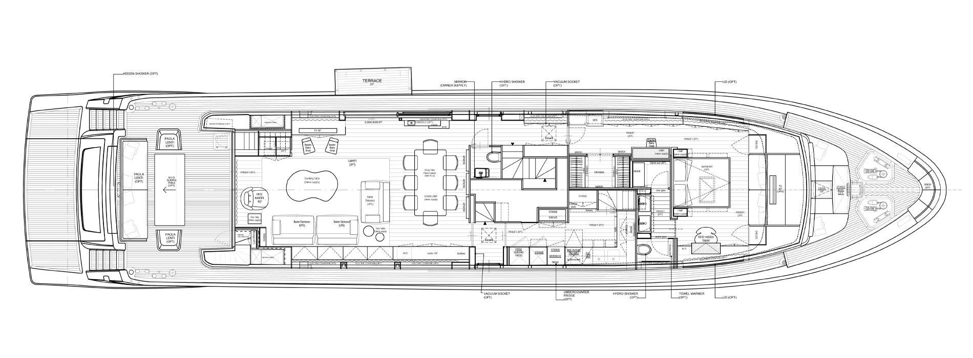 Sanlorenzo Yachts SL106-625 Pont principal