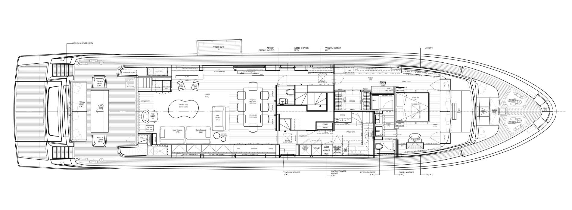 Sanlorenzo Yachts SL106-625 Главная палуба