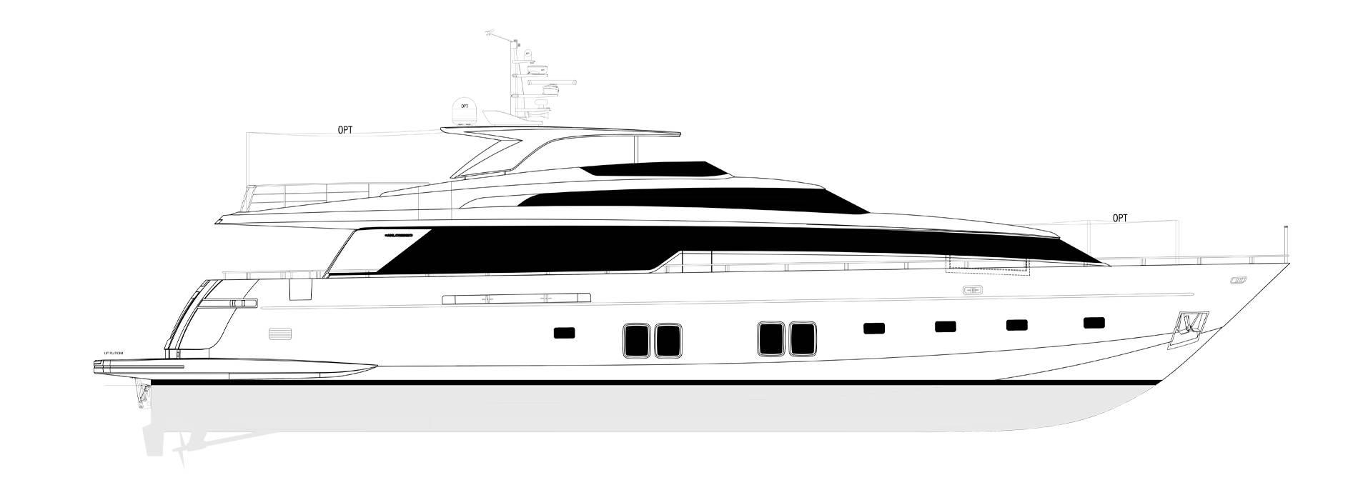 Sanlorenzo Yachts SL106-625 Perfil