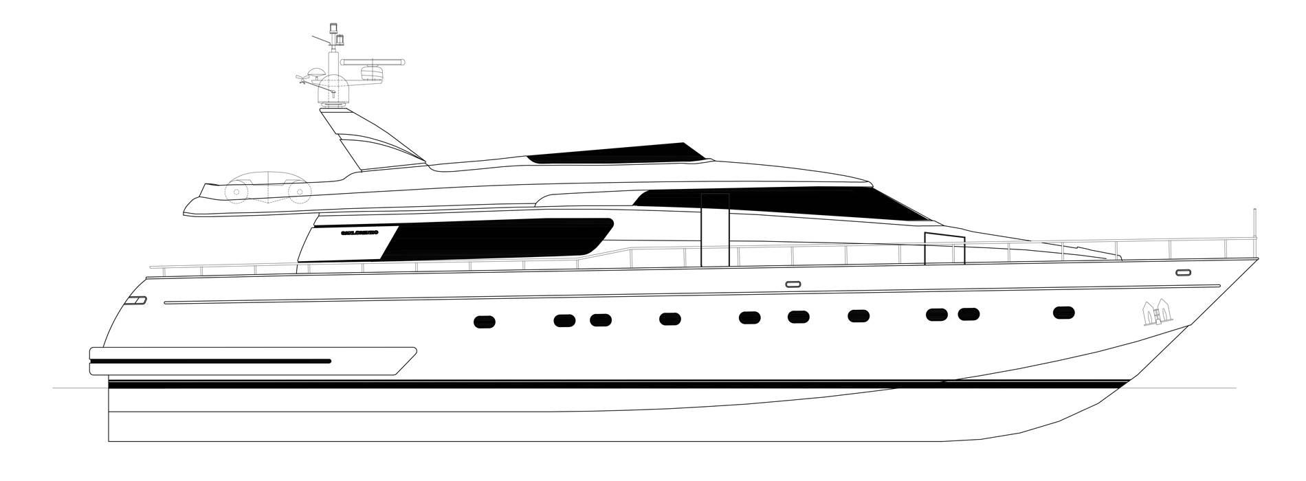 Sanlorenzo Yachts SL82-469 Mazuki Profil