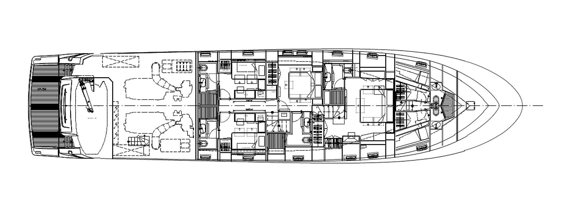 Sanlorenzo Yachts SL96-623 Нижняя палуба