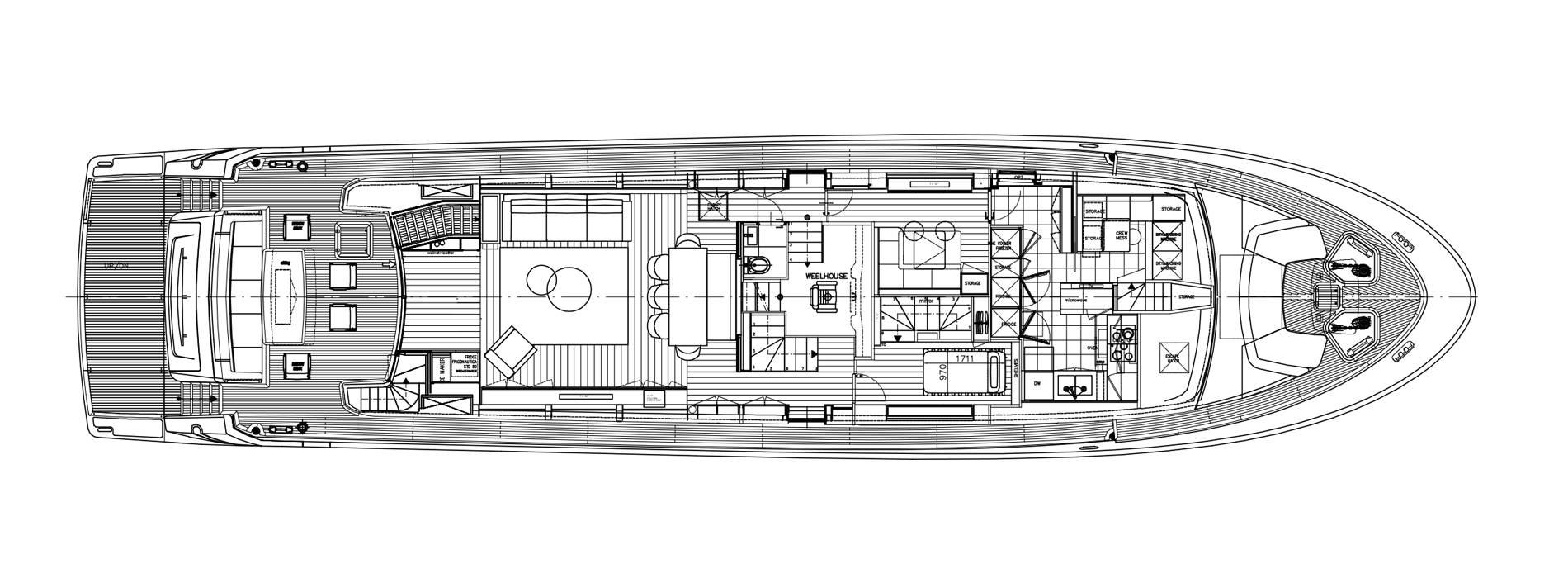 Sanlorenzo Yachts SL96-623 Hauptdeck