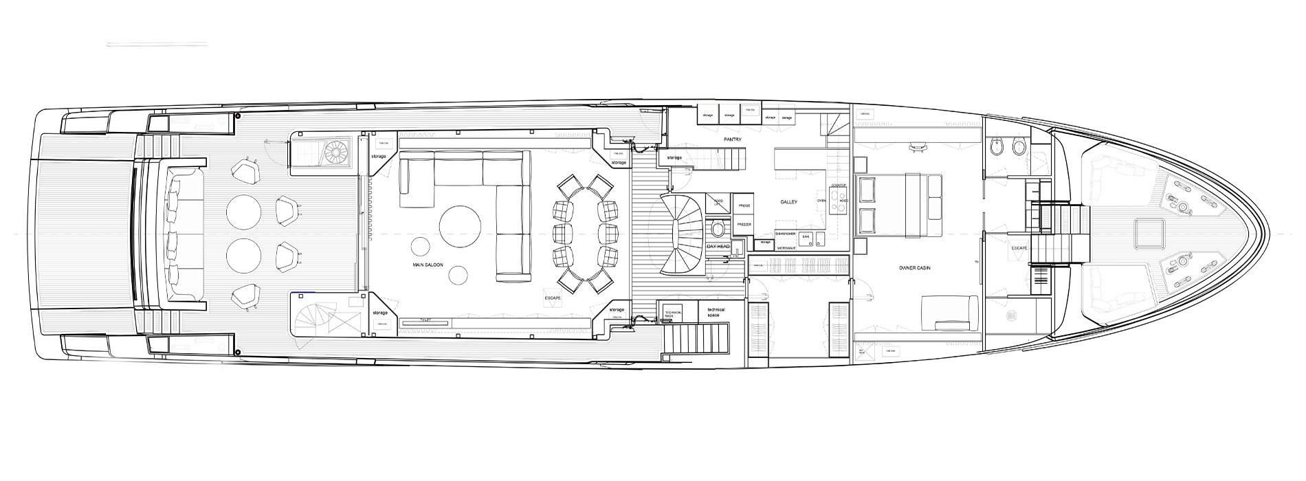 Sanlorenzo Yachts SD118 Cubierta principal