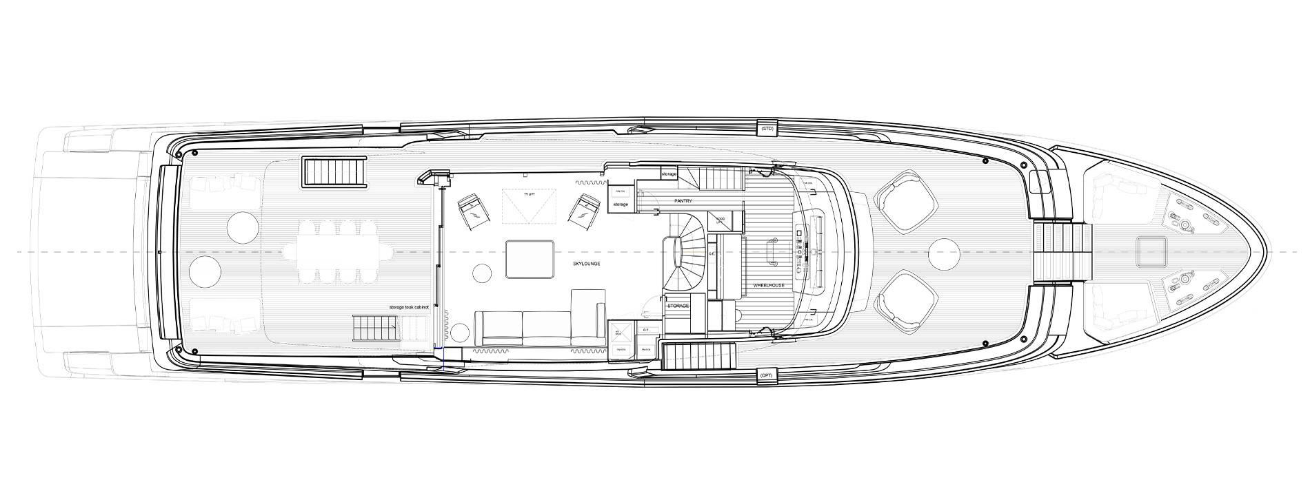Sanlorenzo Yachts SD118 Cubierta superior