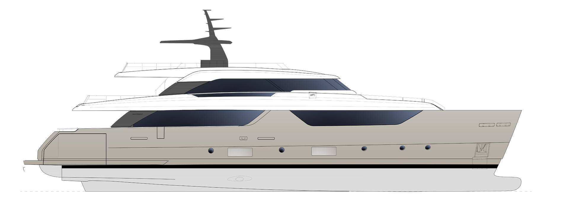Sanlorenzo Yachts SD118 Perfil