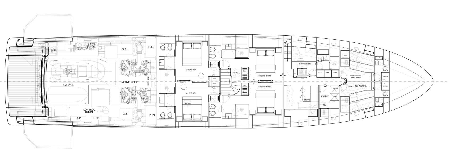 Sanlorenzo Yachts SD118 Unterdeck