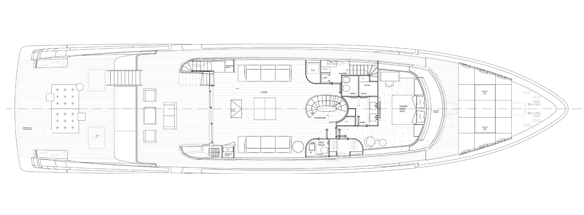 Sanlorenzo Yachts SX112 Pont principal  Version C