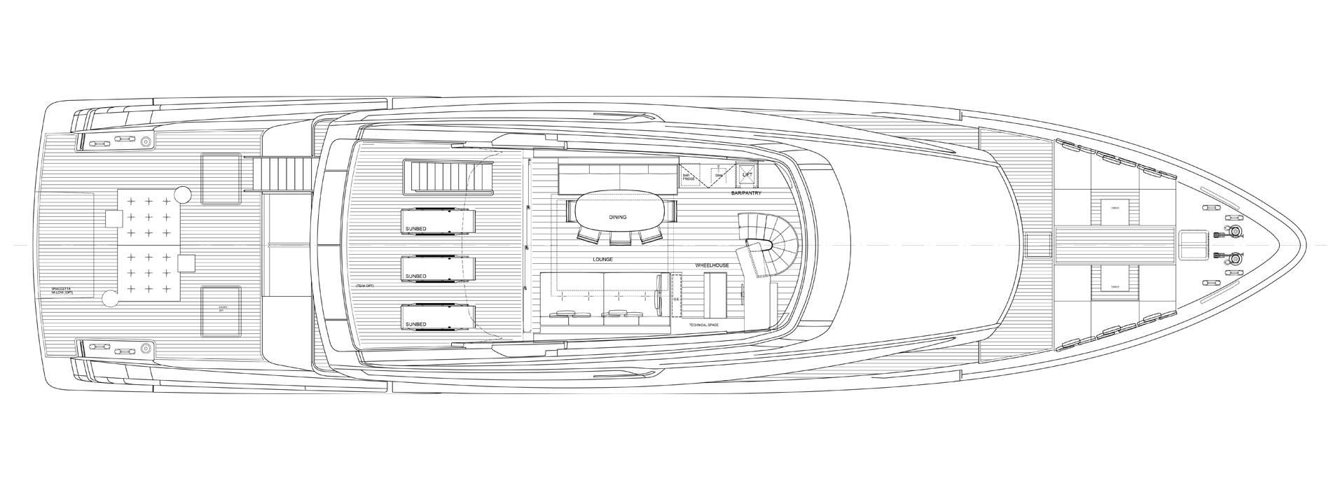 Sanlorenzo Yachts SX112 Außendeck