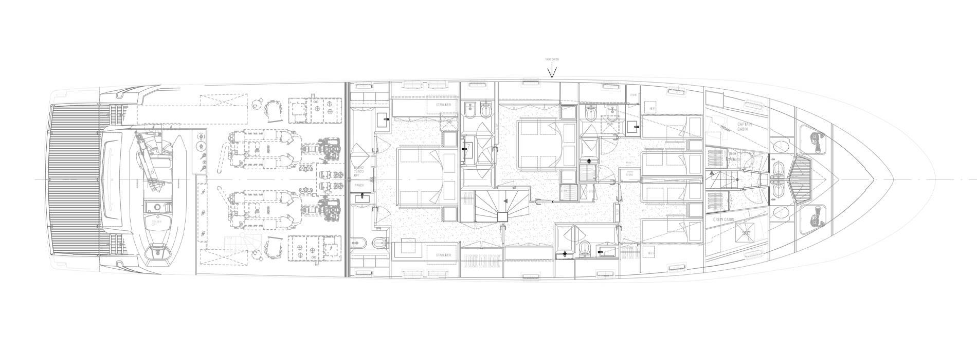 Sanlorenzo Yachts SL96-631 Нижняя палуба