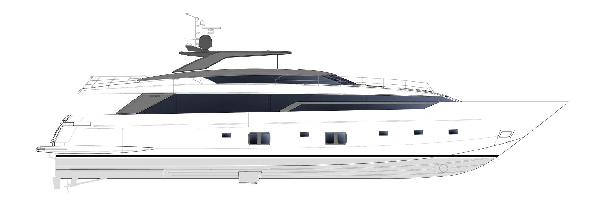 Sanlorenzo Yachts SL120 Asymmetric Profilo