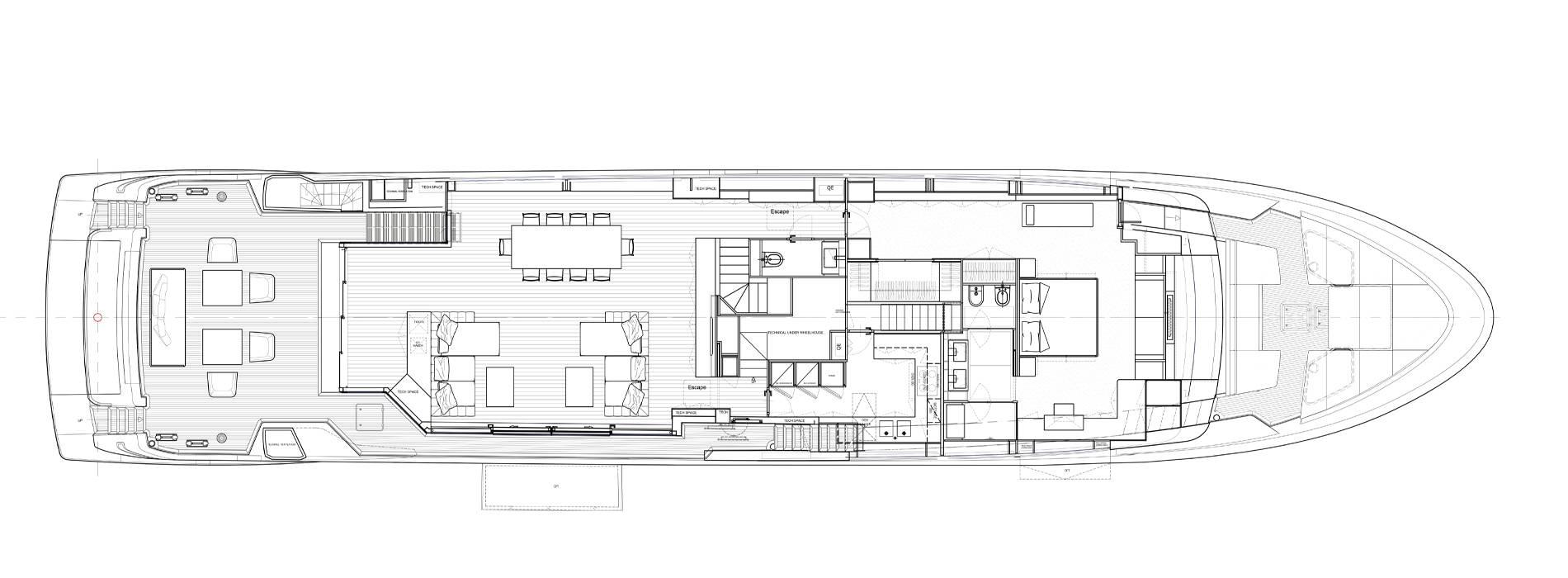Sanlorenzo Yachts SL120 Asymmetric Hauptdeck