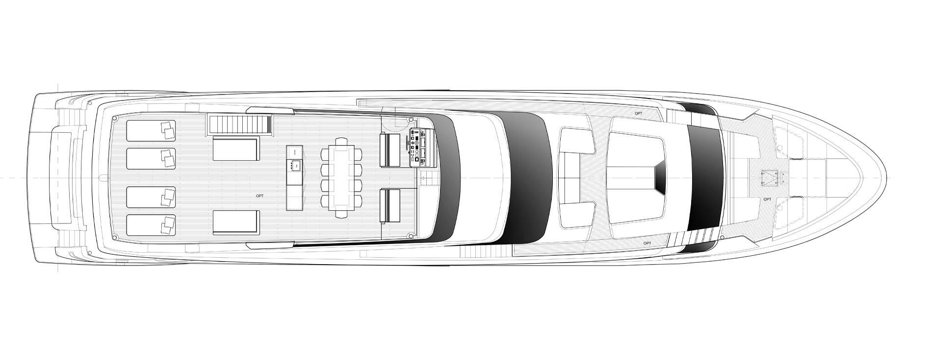 Sanlorenzo Yachts SL120 Asymmetric Außendeck