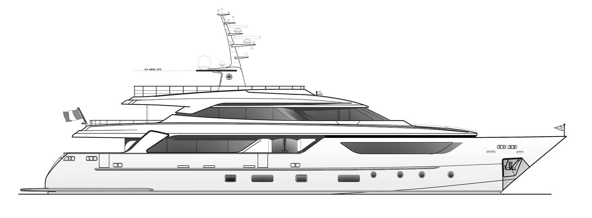 Sanlorenzo Yachts SD122-27 under offer Profil