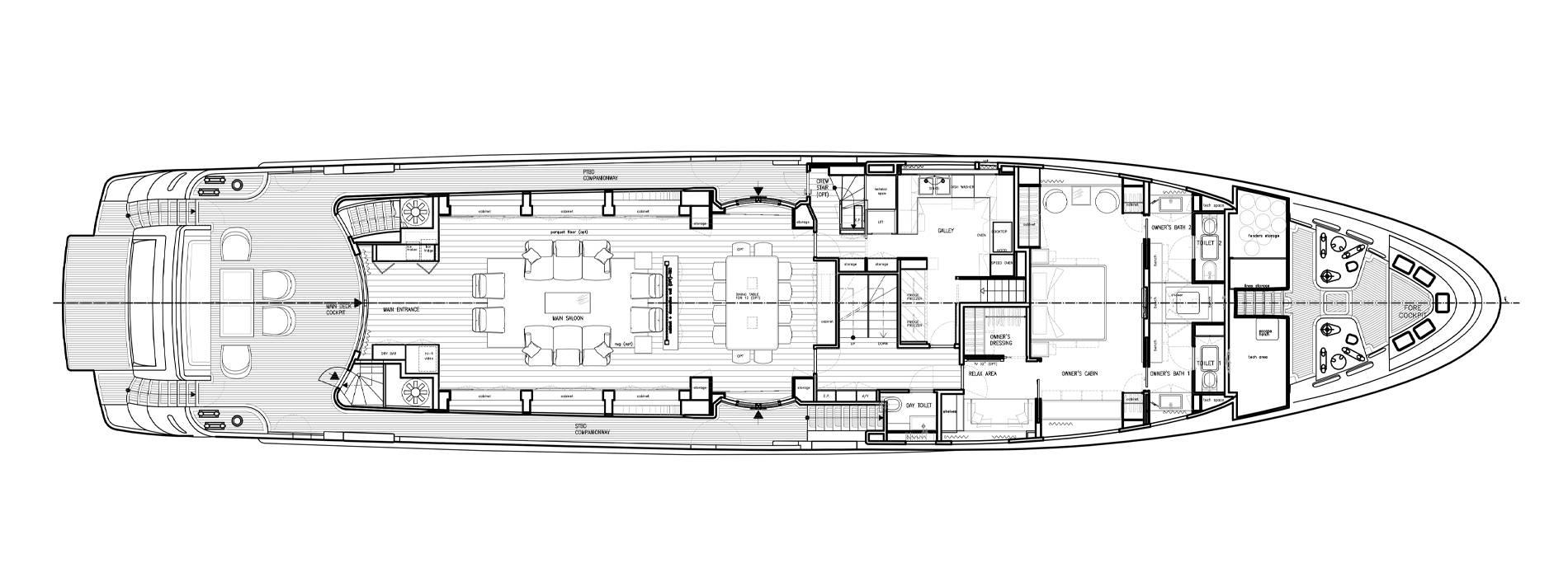 Sanlorenzo Yachts SD122-27 under offer Главная палуба