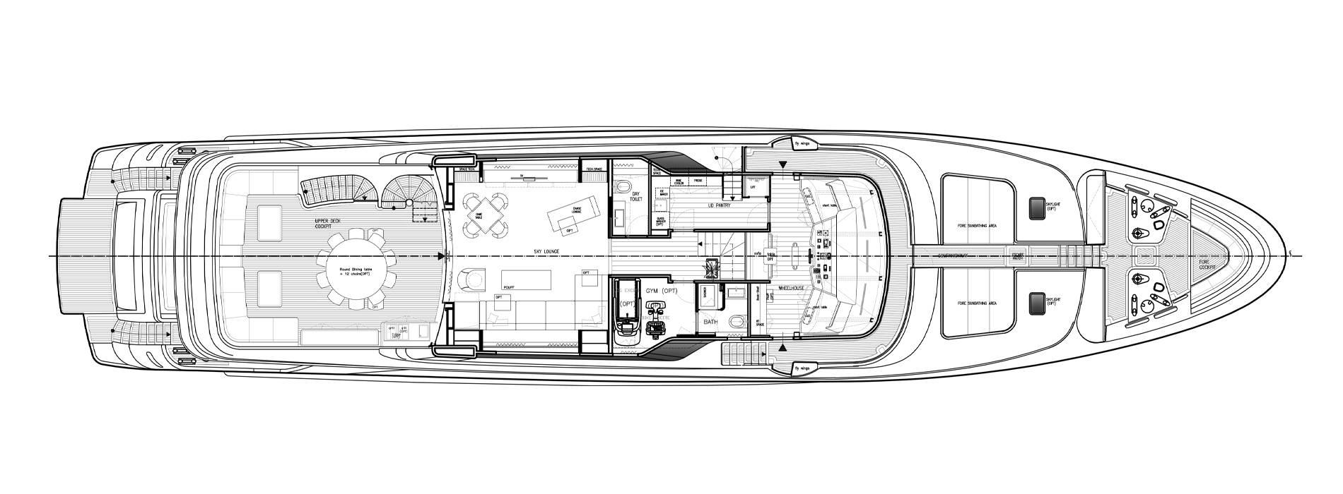 Sanlorenzo Yachts SD122-27 under offer 頂層甲板