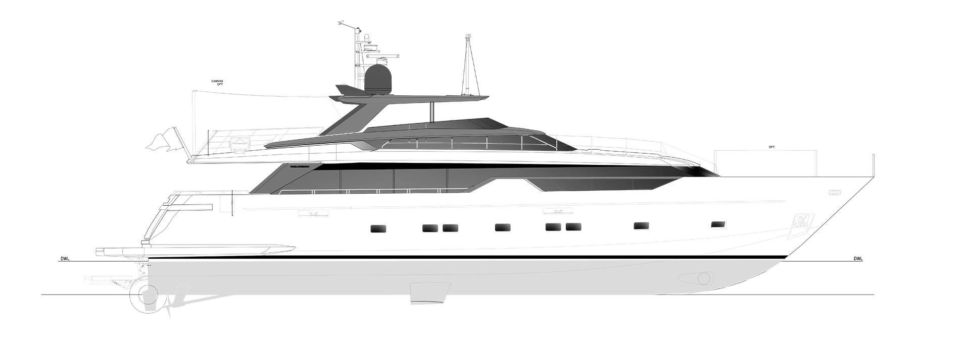 Sanlorenzo Yachts SL102A-746 under offer Profil