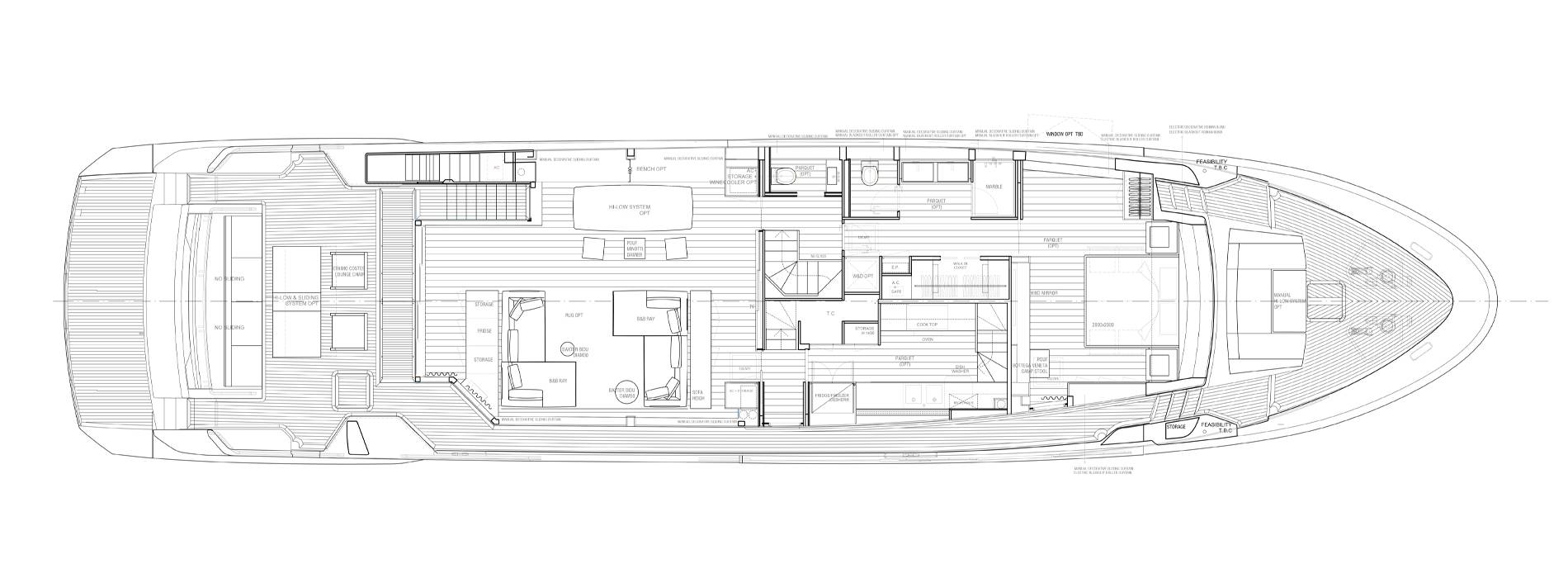 Sanlorenzo Yachts SL102A-746 Главная палуба