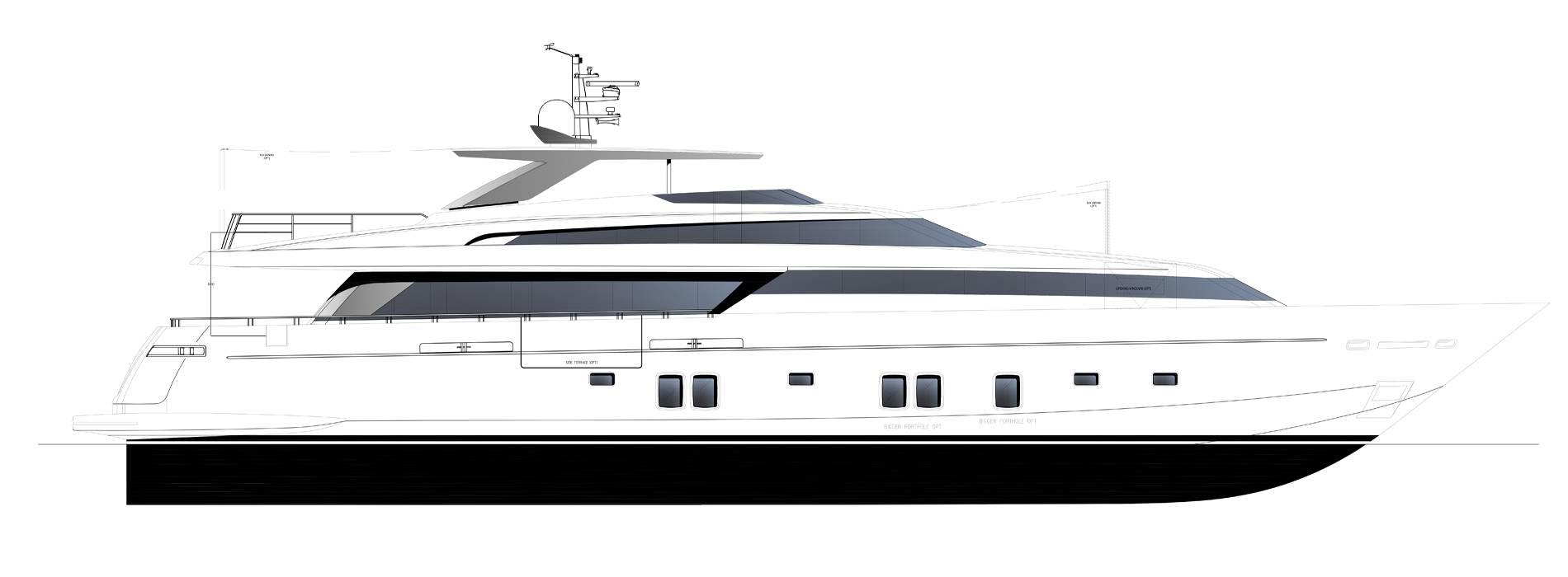 Sanlorenzo Yachts SL118-628 Profil