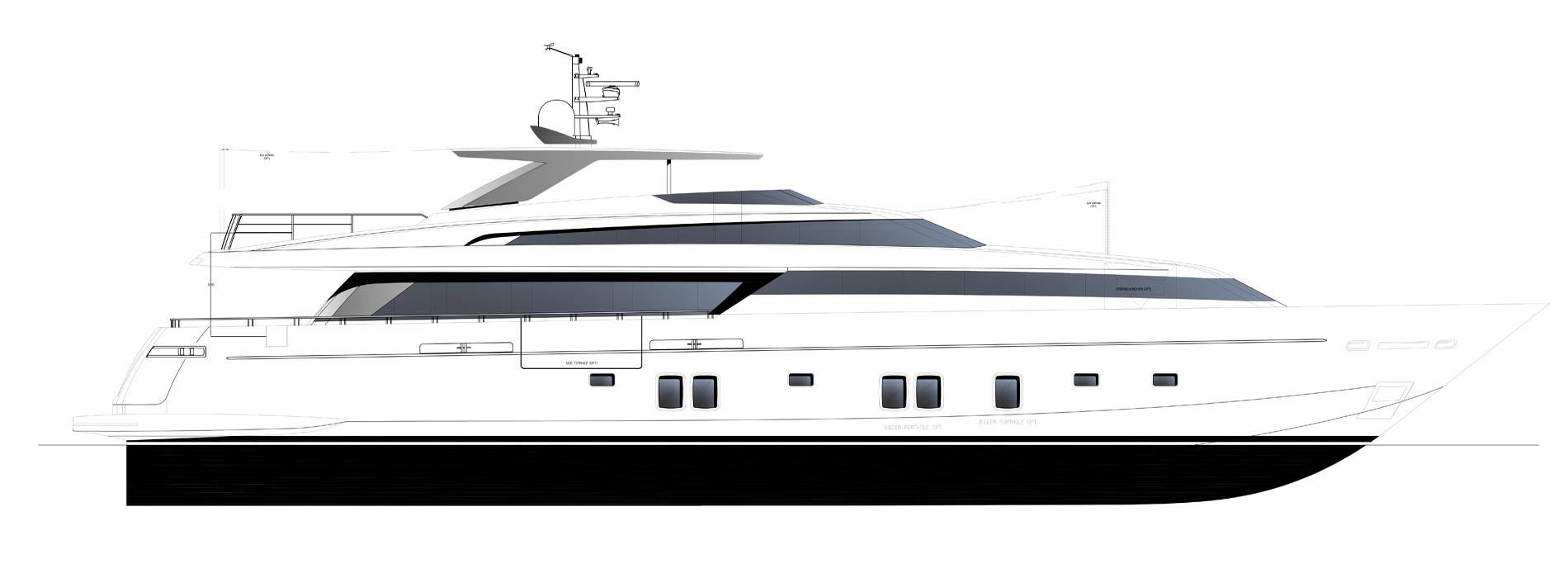 Sanlorenzo Yachts SL118-628 Perfil