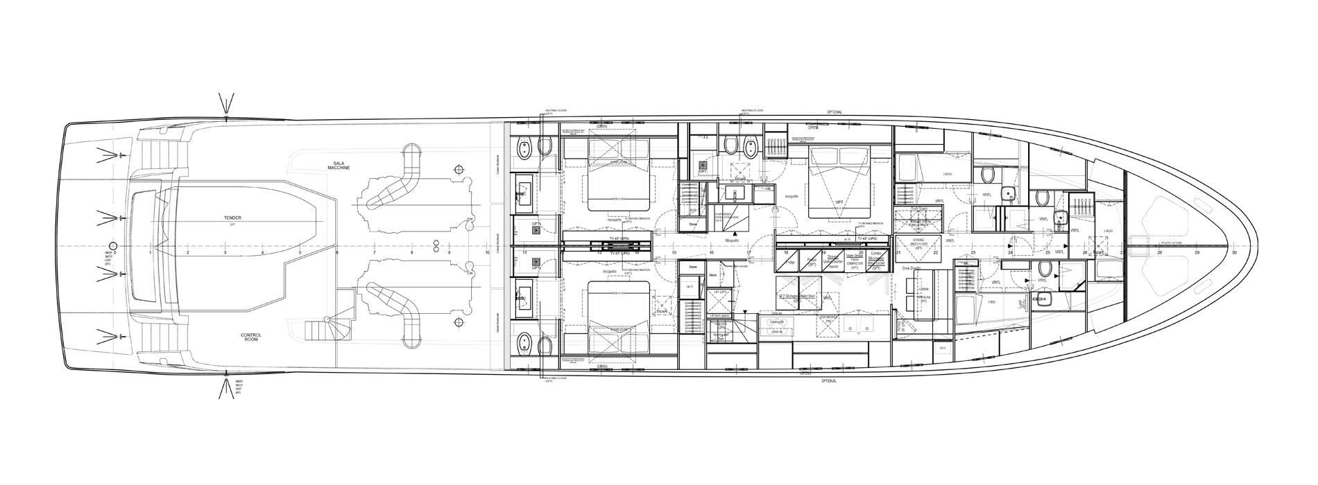 Sanlorenzo Yachts SL106-725 Pont inférieur