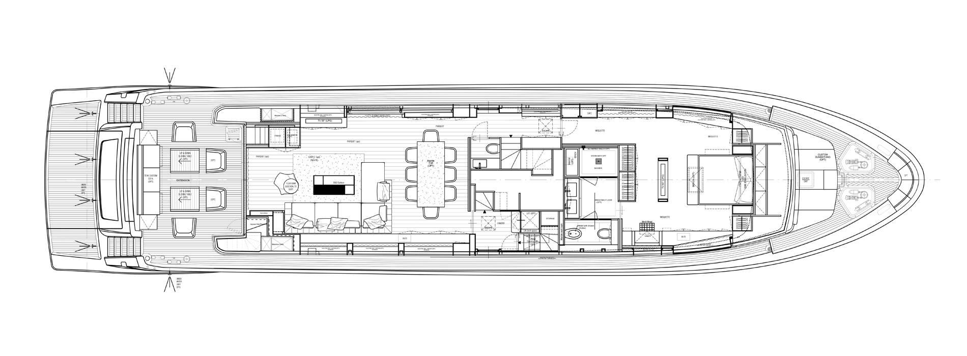 Sanlorenzo Yachts SL106-725 Pont principal