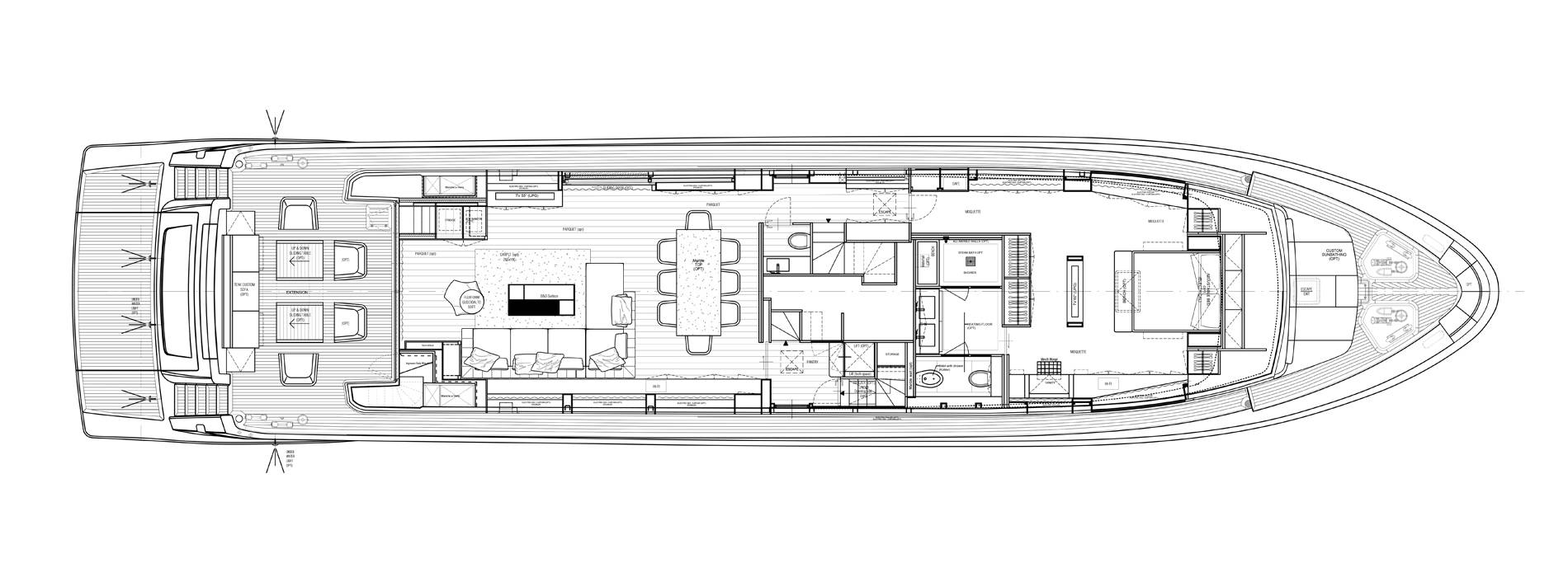 Sanlorenzo Yachts SL106-725 Главная палуба