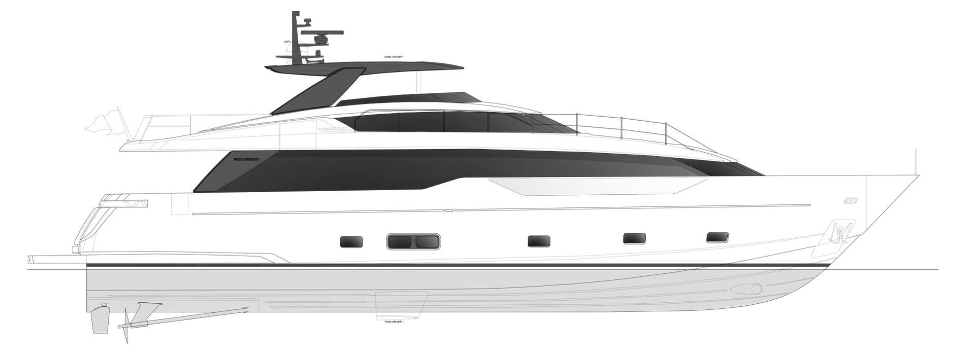 Sanlorenzo Yachts SL90 Asymmetric Profilo