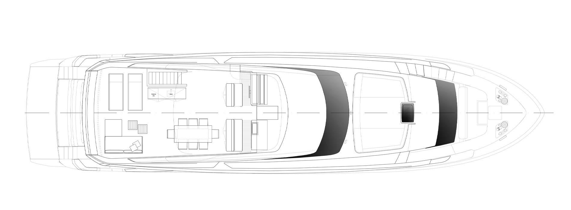 Sanlorenzo Yachts SL90 Asymmetric Außendeck
