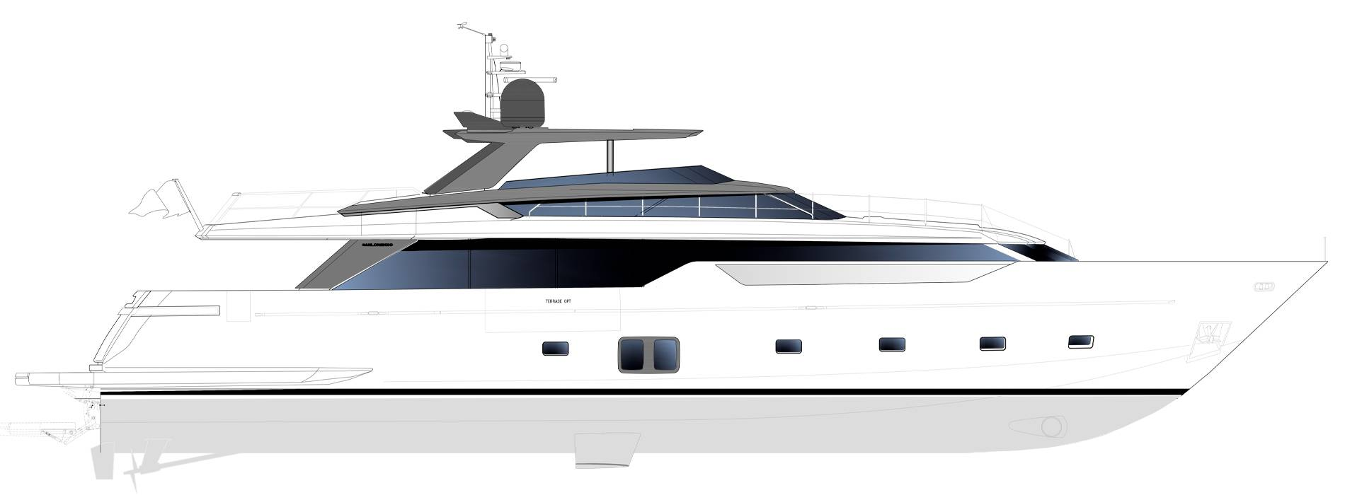 Sanlorenzo Yachts SL106 Asymmetric Profilo