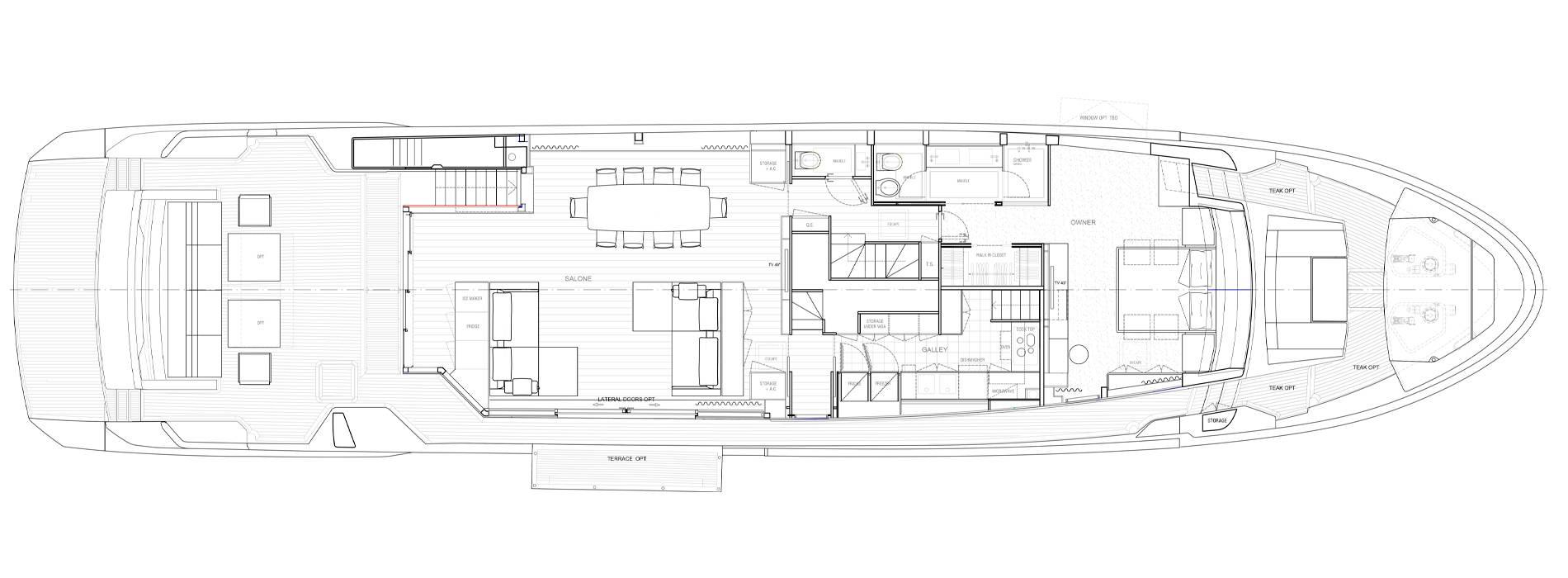 Sanlorenzo Yachts SL106 Asymmetric Main deck
