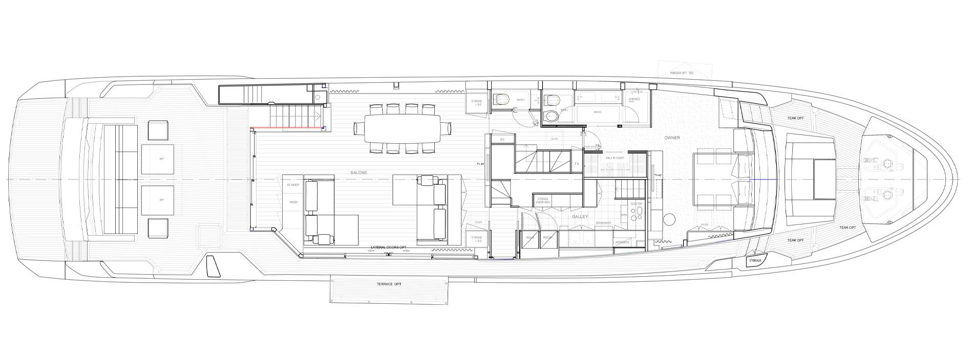 Sanlorenzo Yachts SL106 Asymmetric Hauptdeck