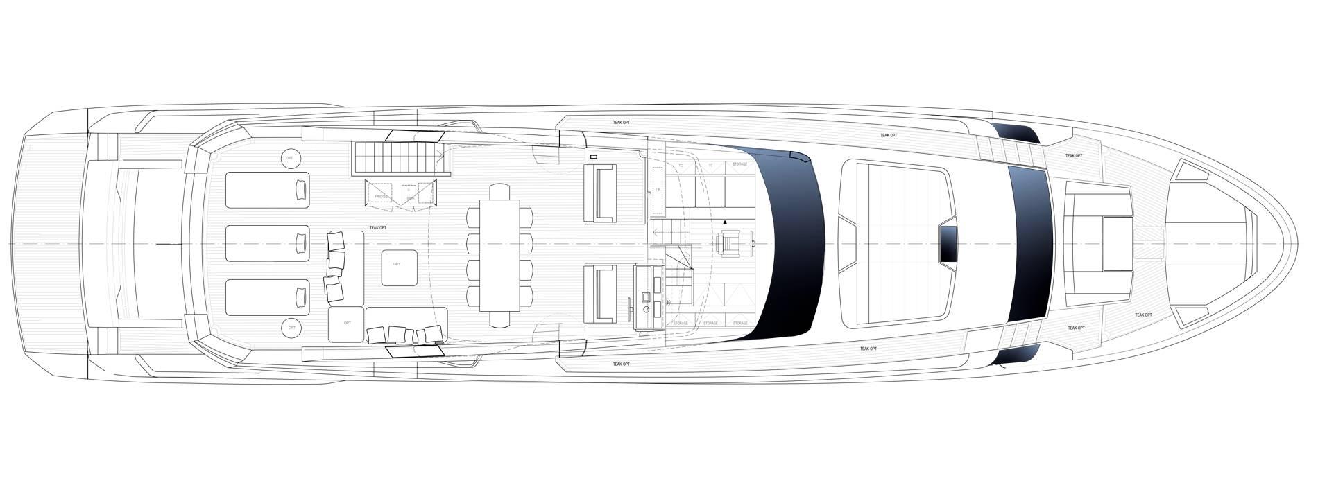 Sanlorenzo Yachts SL106 Asymmetric Außendeck