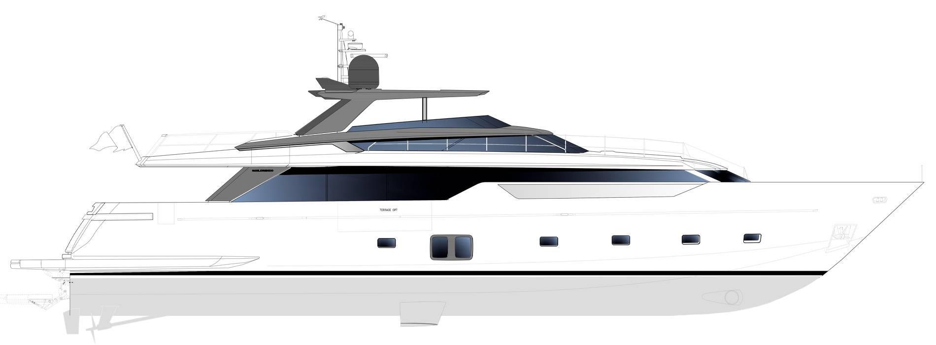 Sanlorenzo Yachts SL106 Asymmetric Profil