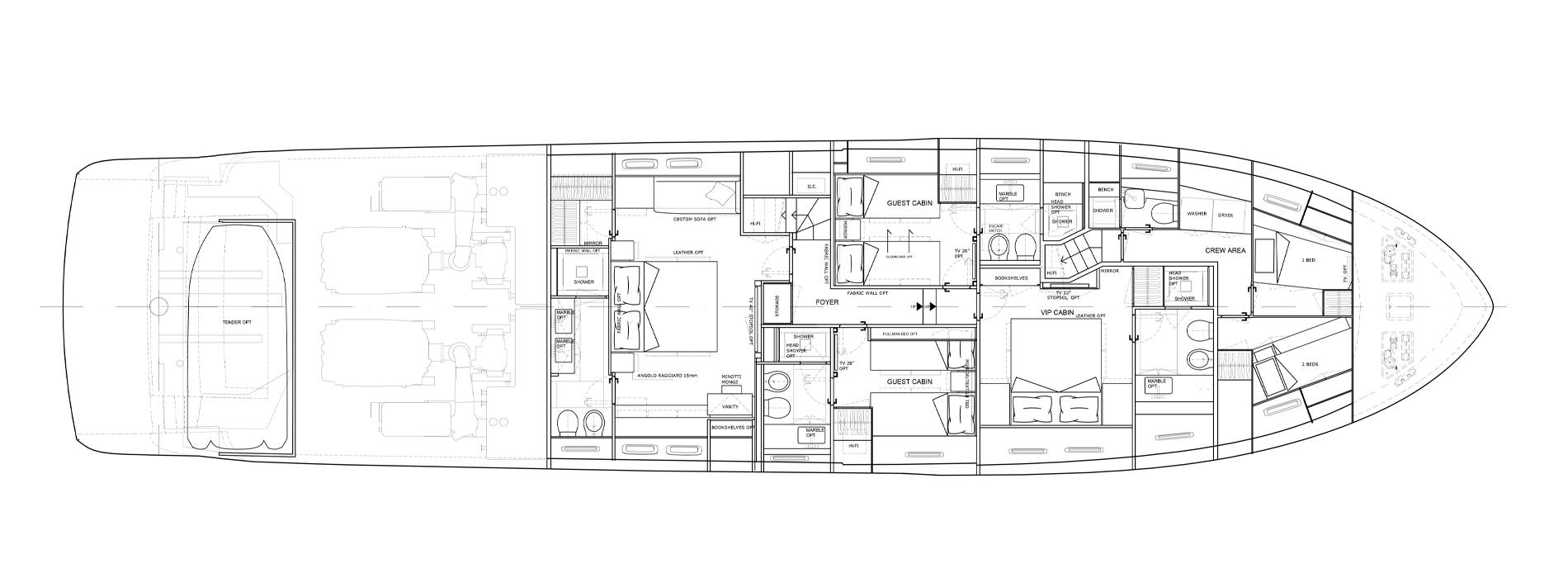 Sanlorenzo Yachts SL86-727 下层甲板