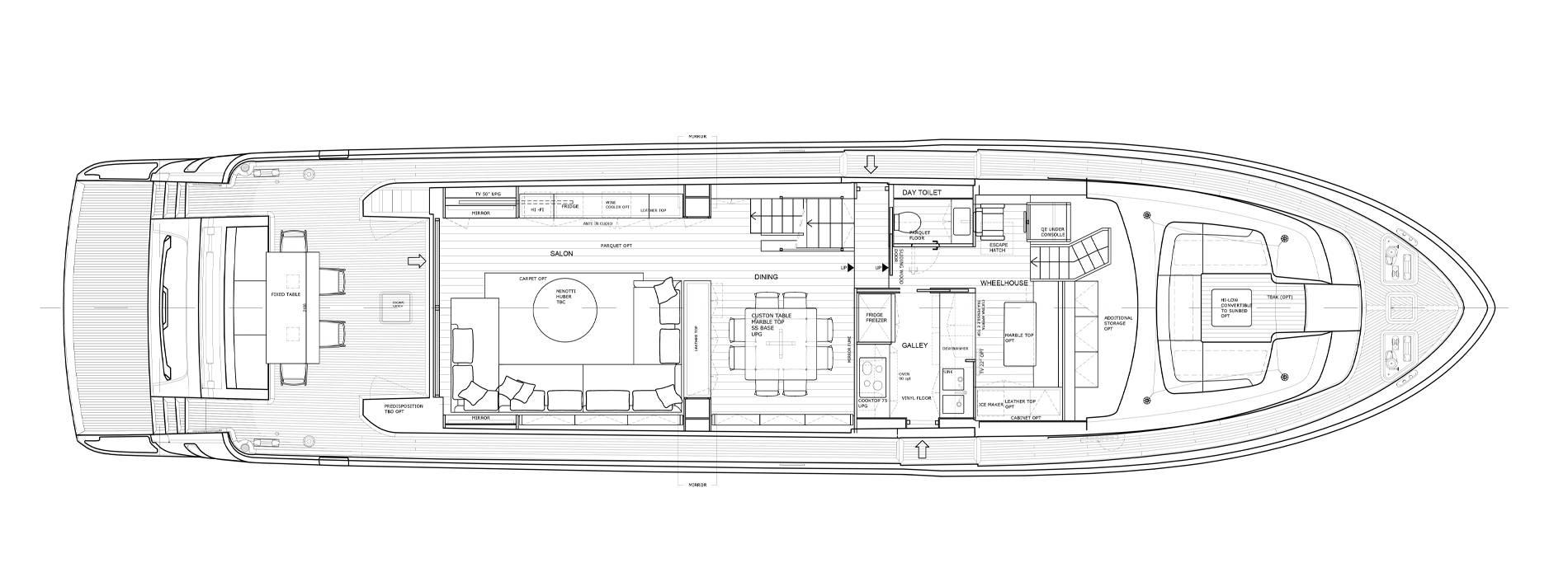 Sanlorenzo Yachts SL86-727 Hauptdeck