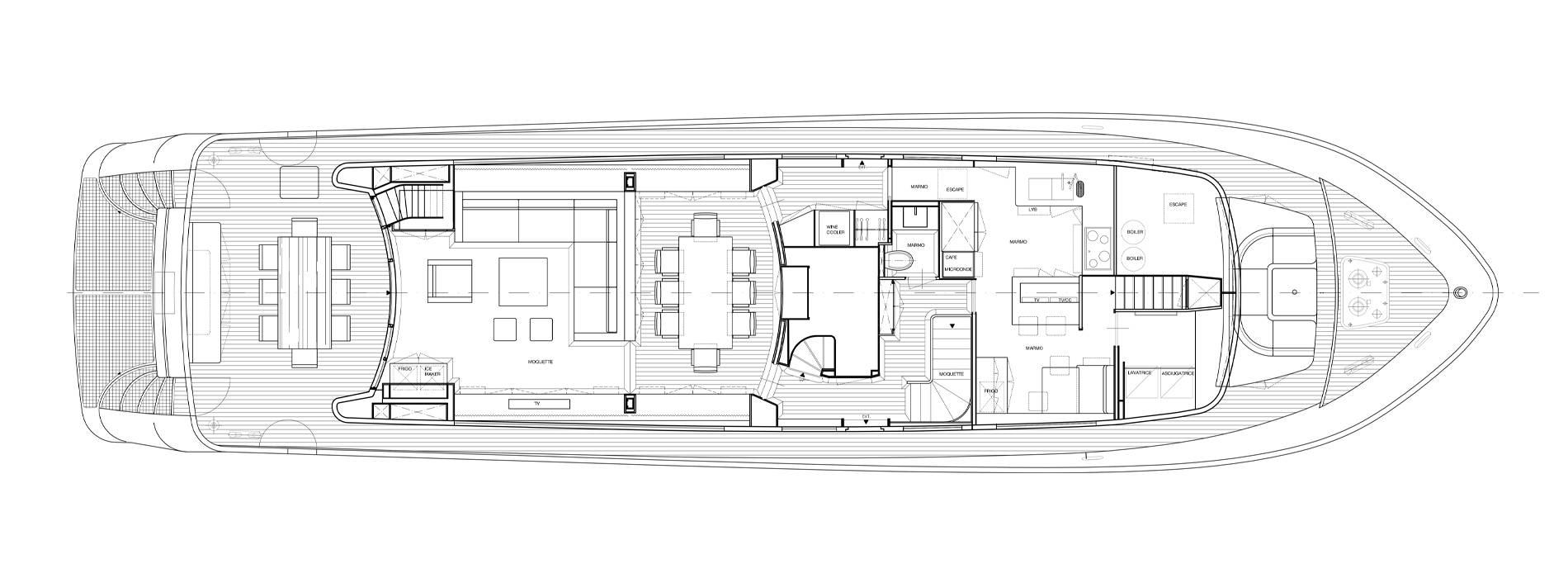 Sanlorenzo Yachts SL88-541 Cubierta principal