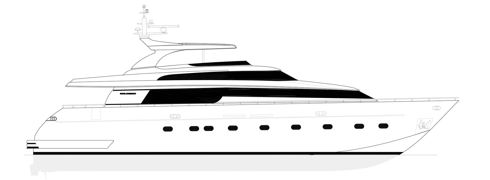 Sanlorenzo Yachts SL88-541 Perfil