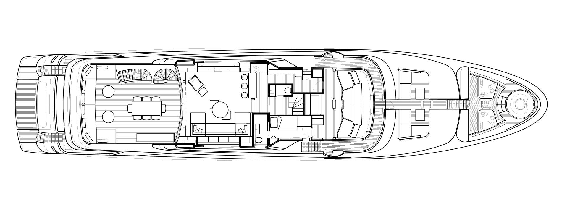 Sanlorenzo Yachts SD126 верхний палуба версия B