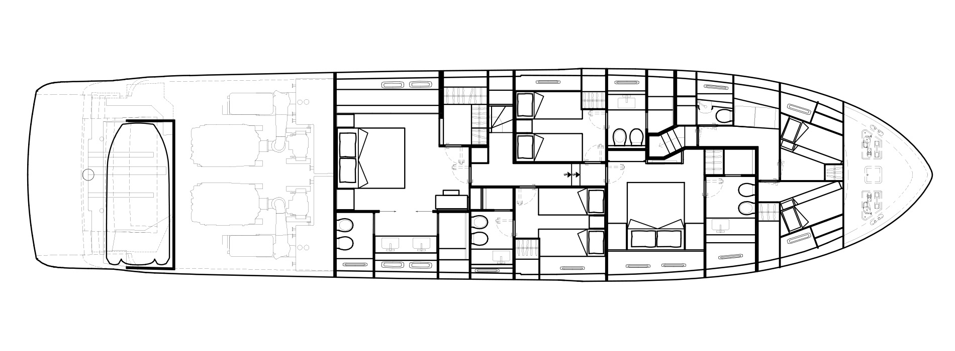 Sanlorenzo Yachts SL86 Lower Deck Versione A