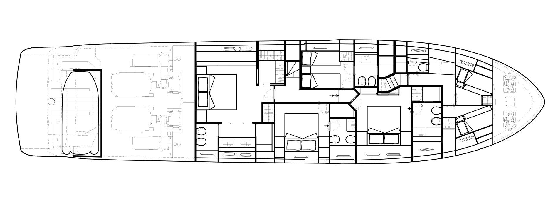 Sanlorenzo Yachts SL86 Lower Deck Versione B