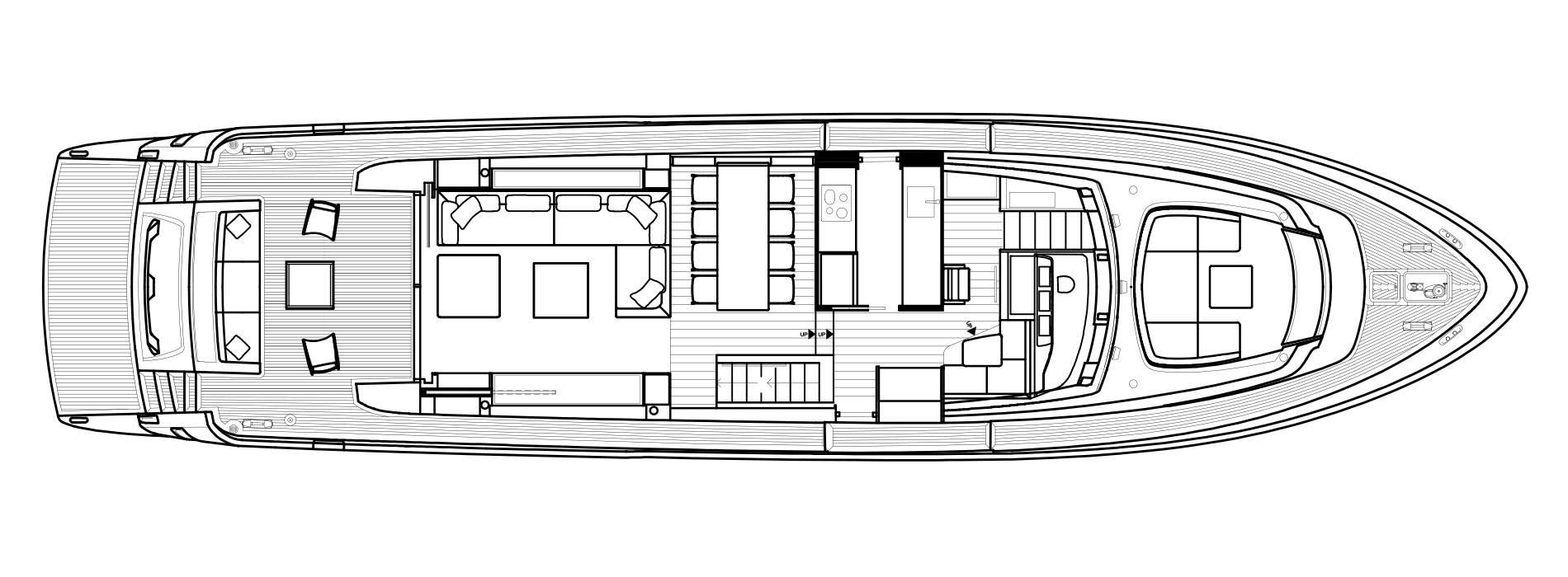 Sanlorenzo Yachts SL78 Cubierta principal