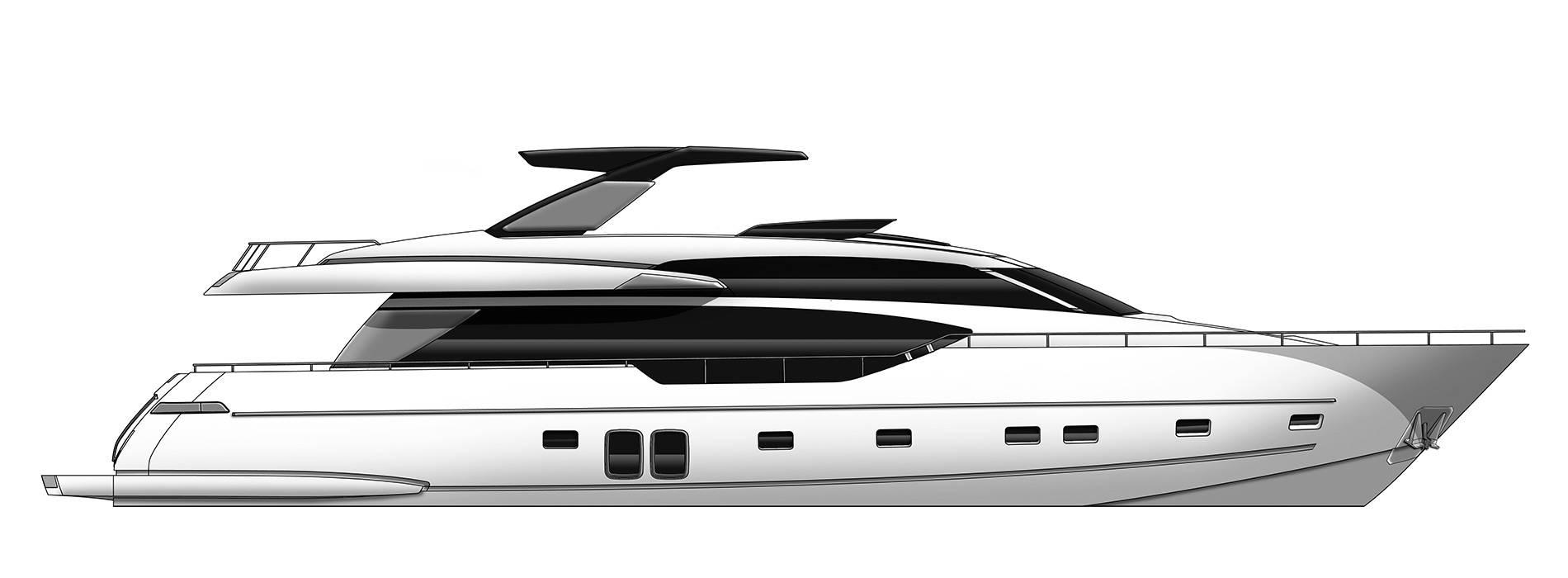Sanlorenzo Yachts SL86 Perfil