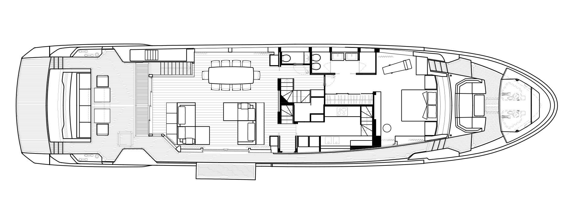 Sanlorenzo Yachts SL102 Asymmetric Cubierta principal