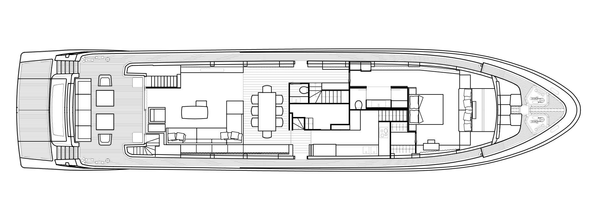 Sanlorenzo Yachts SL106 Cubierta principal
