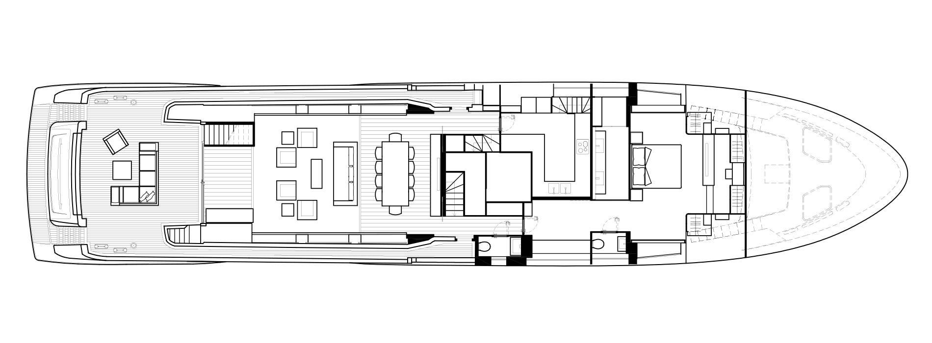 Sanlorenzo Yachts SL118 Cubierta principal